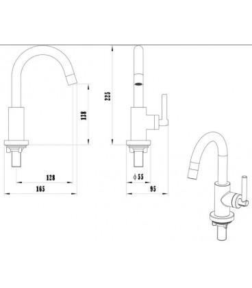 Robinet lave-mains haut Design