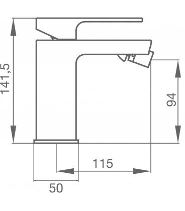 Mitigeur bidet blanc DESPERTAR XL