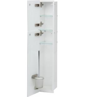Niche à encastrer en inox pour WC intérieur revêtu par poudre blanc