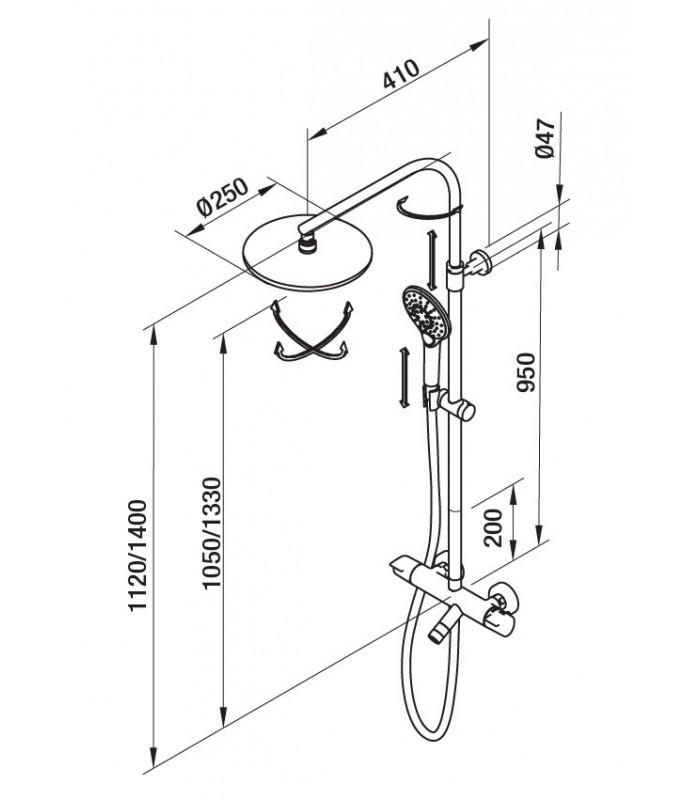 colonne bain douche premier grb grober pour sanitaires. Black Bedroom Furniture Sets. Home Design Ideas