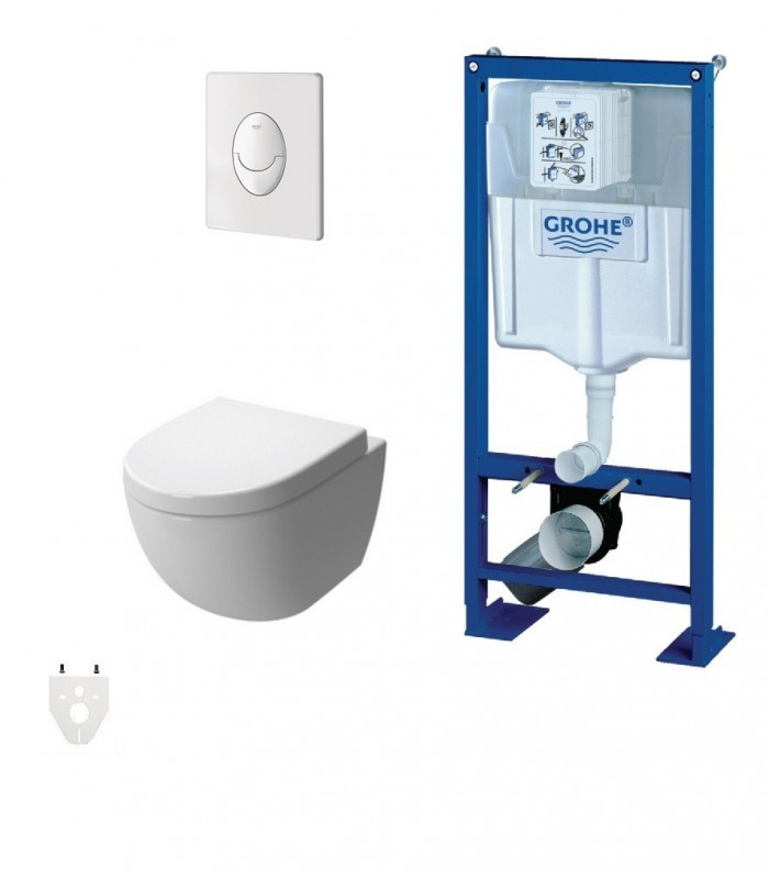 pack wc suspendu grohe autoportant daily 39 o 2 grohe pour sanitaires. Black Bedroom Furniture Sets. Home Design Ideas